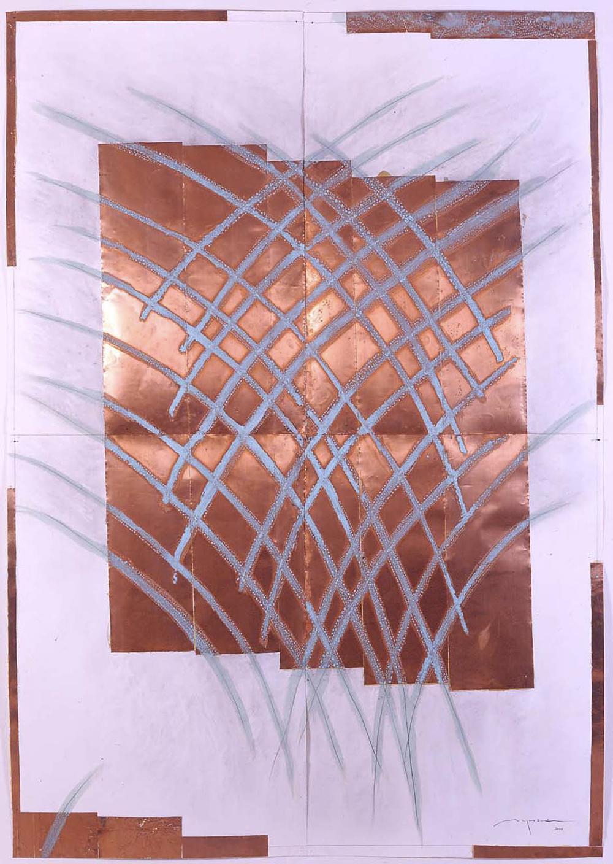 Hidetoshi Nagasawa, Disegno, 2004 , carta, rame, matita e acido nitrico, cm 100x140