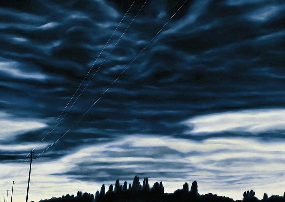 sabato.27 settembre 2003.H 18:14:14, olio su lino, 2004, cm 100x140