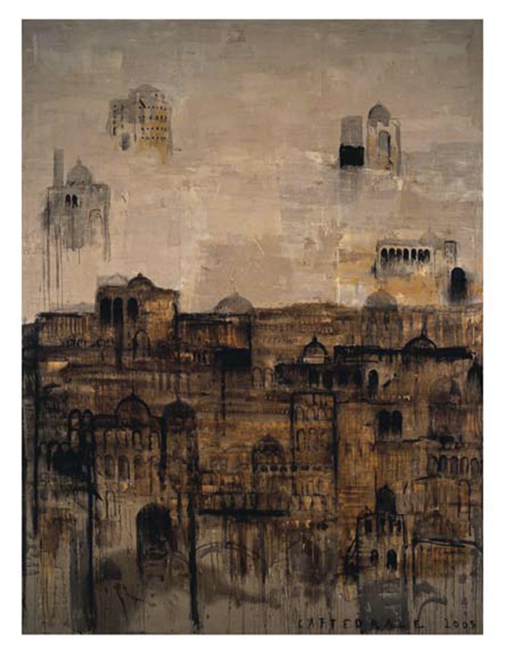 Cattedrale, 2004, olio su tela, cm 400x290 - Collez. Carisbo S. Giorgio in Poggiale, Bologna