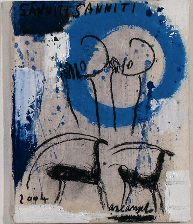 Sanniti Sanniti, 2004, tecnica mista su carta intelata, cm 30x24