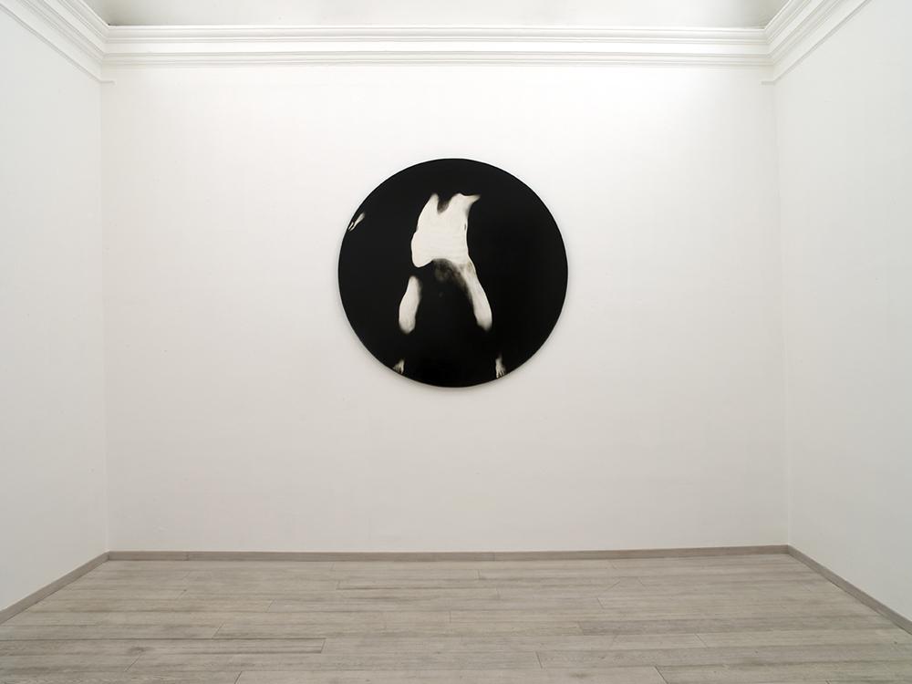 Senza titolo, 2006, tecnica mista su tavola, Ø cm 180