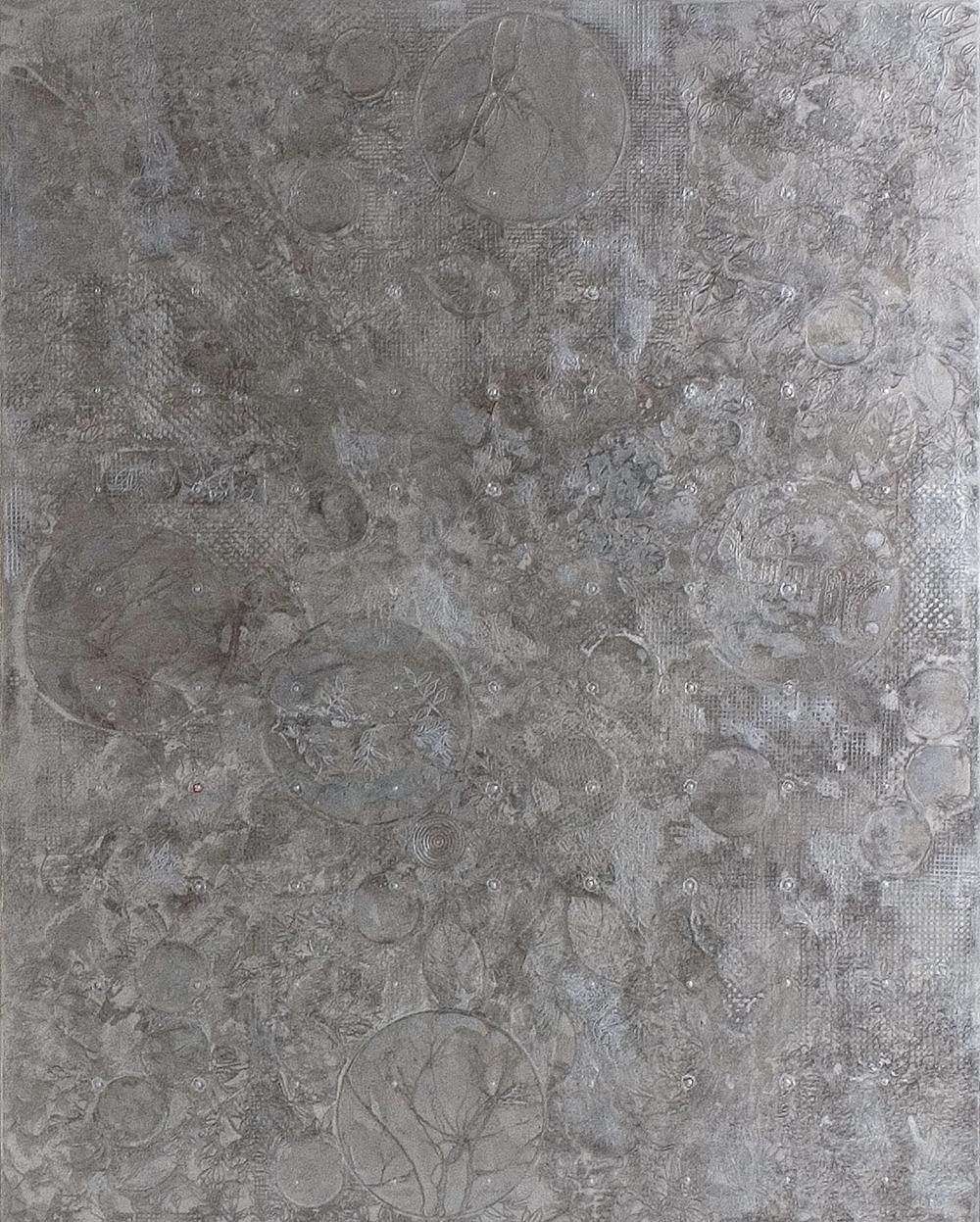 La finzione della forma, 2005, acrilico su tela, cm 250x200