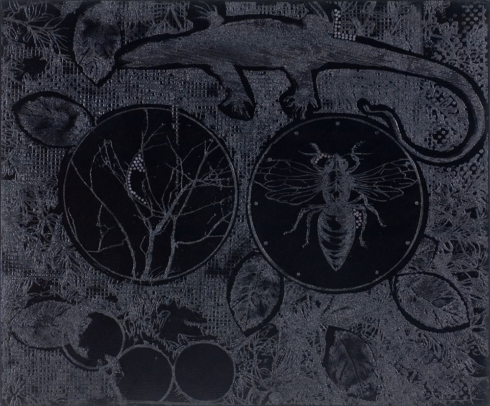 Nero ombrato, 2005, olio su tela, cm 100x120