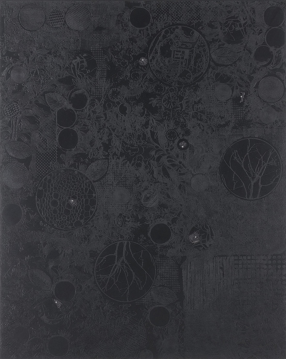 Nero ombrato, 2005, olio su tela, cm 250x200