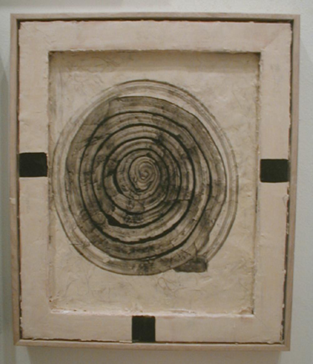 Bianco, 2005, tecnica mista su tela, cm 63x54