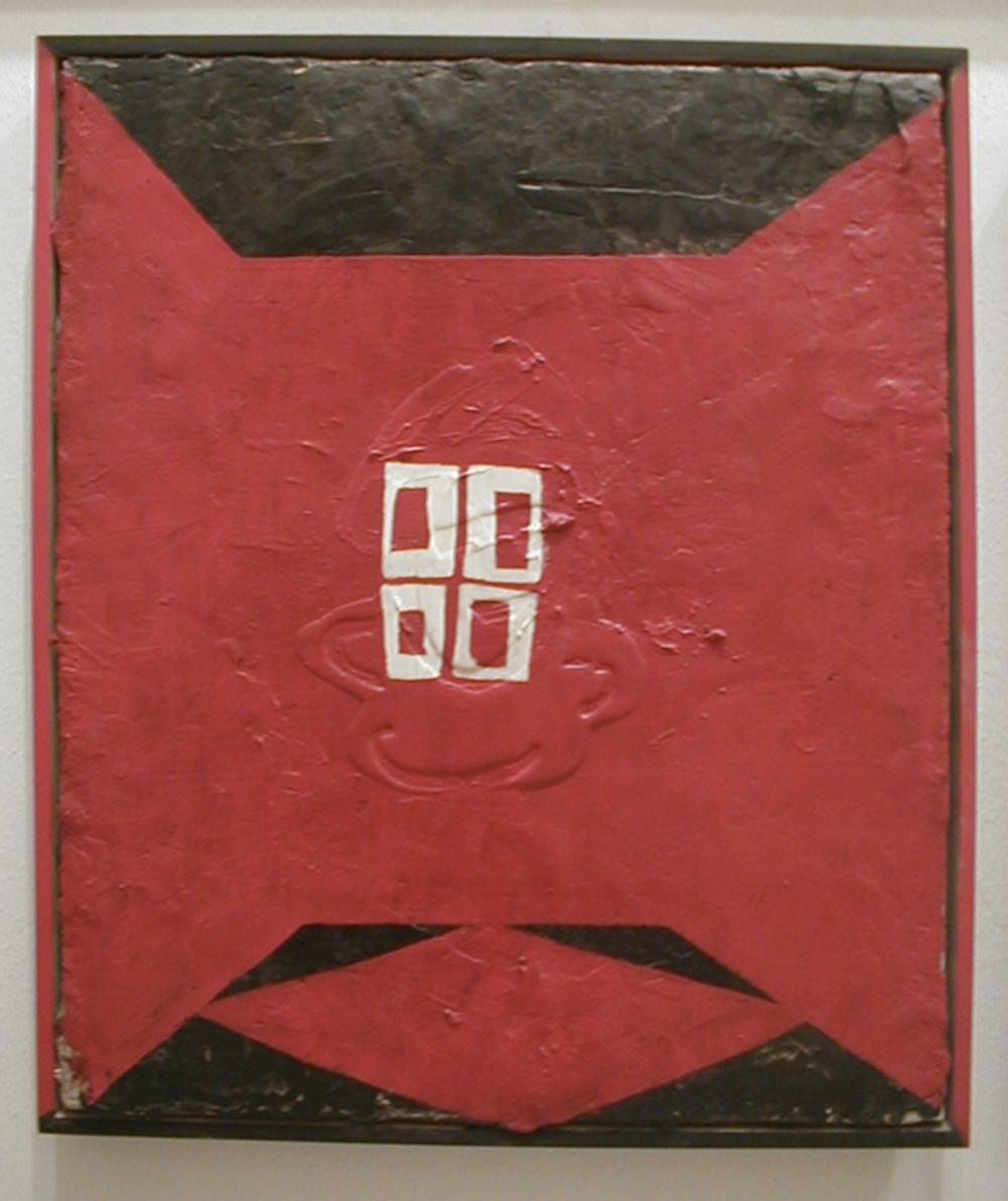 Rosso, 2005, tecnica mista su tela, cm 63x54