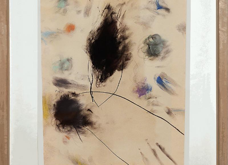 Dogon, 1994, tecnica mista su carta, cm 47x36