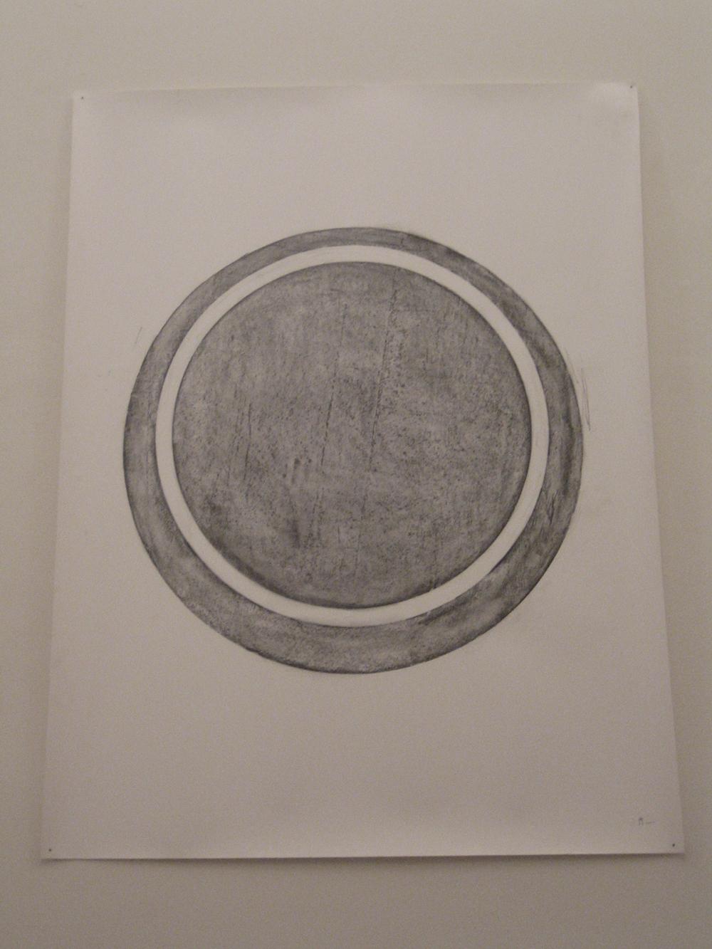 Collisione, 2005, grafite su carta, cm 150x116