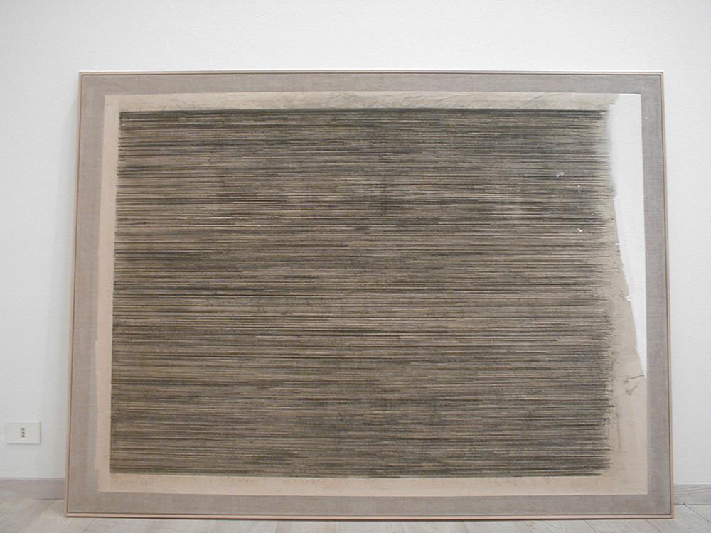 Giuseppe Gallo, Senza titolo, 1995, grafite e tecnica mista su carta intelata, cm 150x200