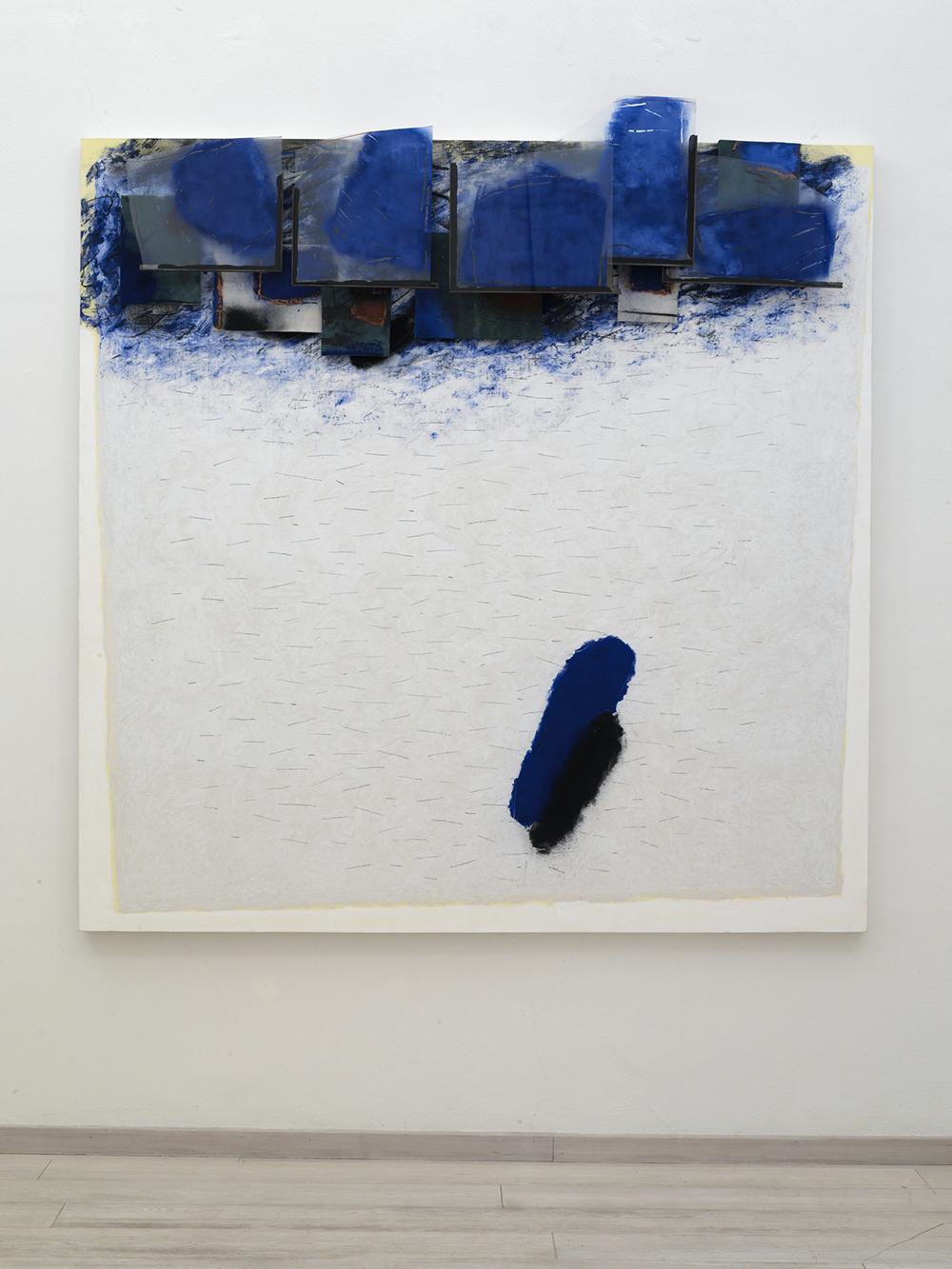 Apeiron, 2005, tecnica mista su tela, cm 205x200