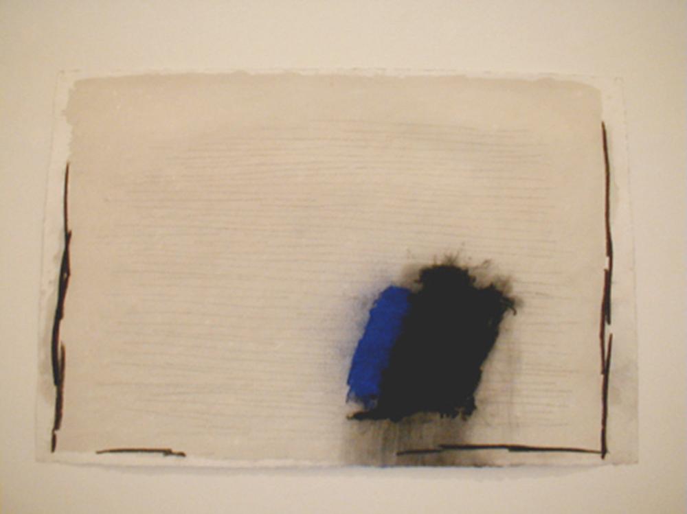 Marco Gastini, Apeiron, 2004, tecnica mista su carta, cm 103x153