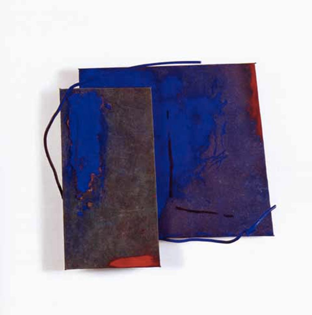 Marco Gastini, Obliquo, 2002, t. m. su tela e ferro, cm 48x54