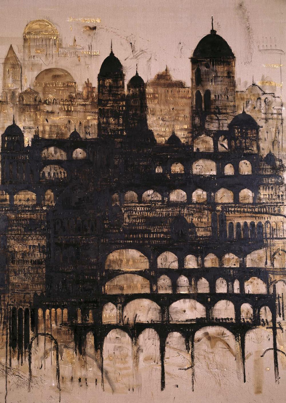 Cattedrale, 2004, olio su tela, cm 390x290 - Collez. Carisbo S. Giorgio in Poggiale, Bologna