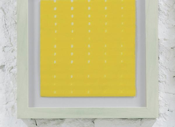 Rete, 2013, carta e inchiostro giallo, cm 40x40