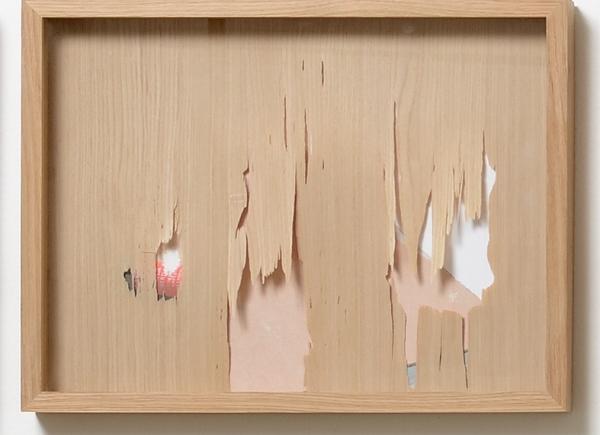 Resistenze, 2018, legno e stampa fotografica, cm 36,5x47