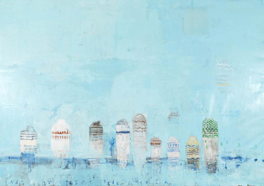 I vasi dei pesci dell'isola, 2008, olio su tela, cm 207x296