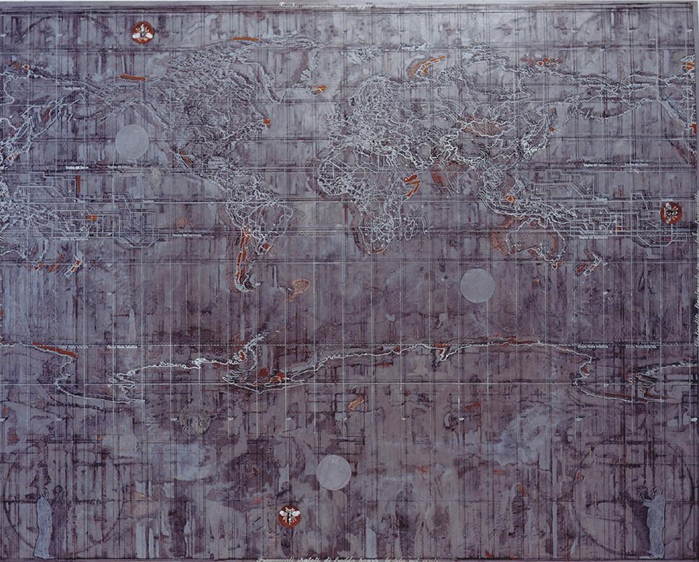 In assenza di prove, 2003, acrilico su tela, cm 200x250