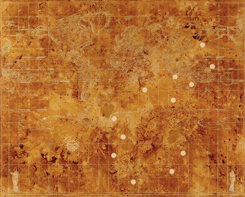 Innocuo, 2003, acrilico su tela, cm 200x250