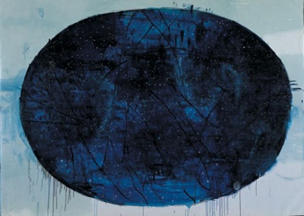 La mappa delle stelle, 2002-2004, tecnica mista su tela, cm 290x355
