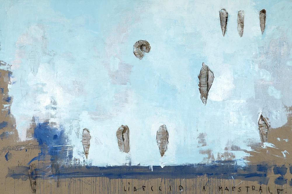 Libeccio a maestrale, 2008, olio su tela, cm 207x310