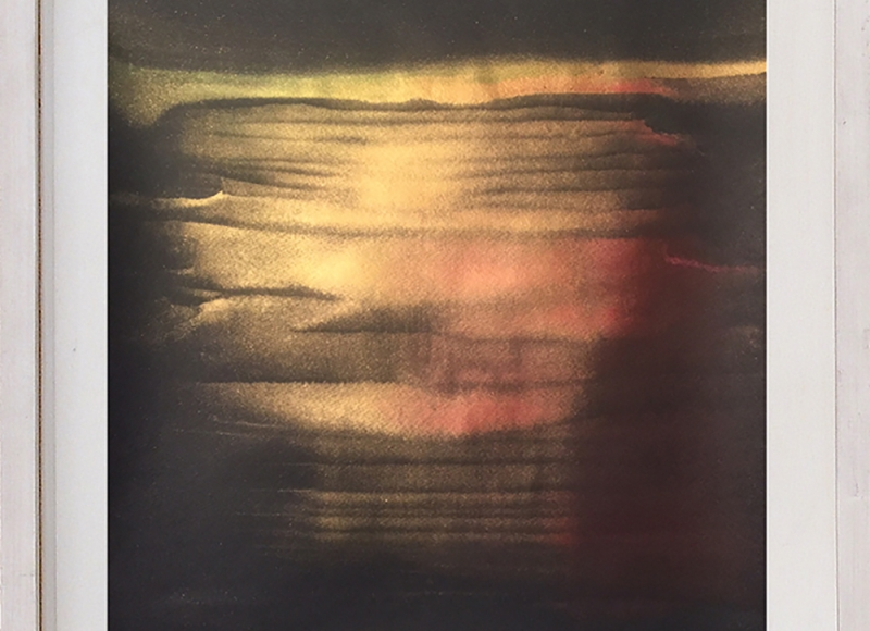 Light in the nightfall #3, 2017, acrilico su carta abrasiva, cm 50x32,5