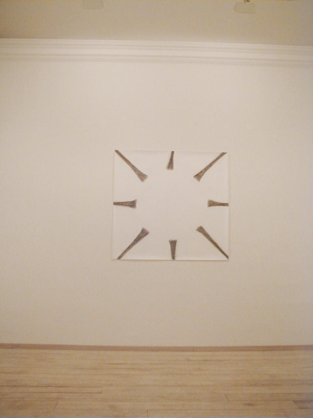 Eliseo Mattiacci, Vuoto, 1985, tecnica mista su carta, cm 150x160
