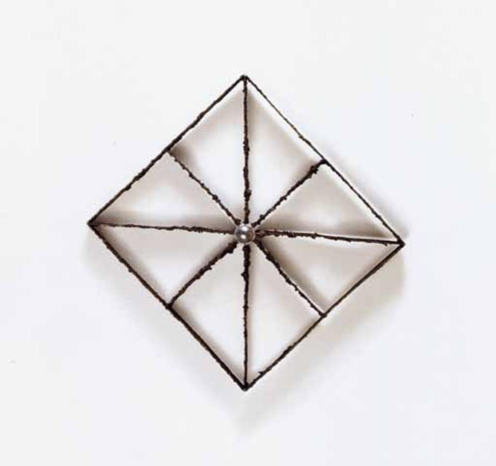 Eliseo Mattiacci, Punto di fuga, 2001, acciaio inox, cm 52x56