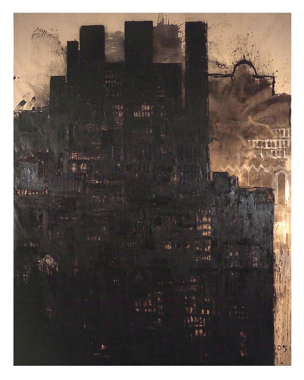 Cattedrale, 2004, olio su tela, cm 400x308 - Collez. Carisbo S. Giorgio in Poggiale, Bologna