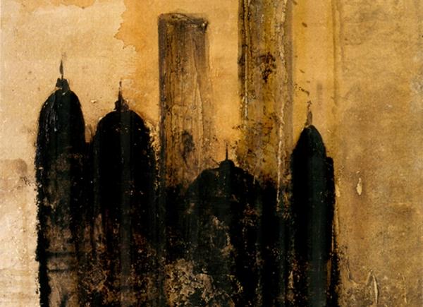 Cattedrale, 2004, olio su carta, cm 80x57