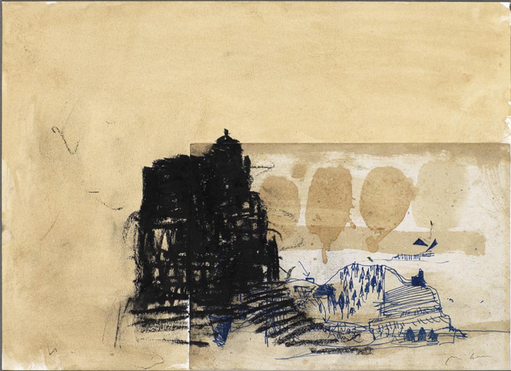 Cattedrale, 2004, olio su carta, cm 25x35