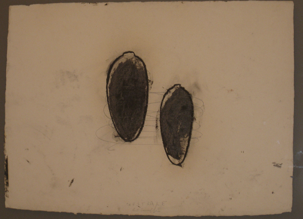 Maestrale, 1995, tecnica mista su carta, cm 56x75