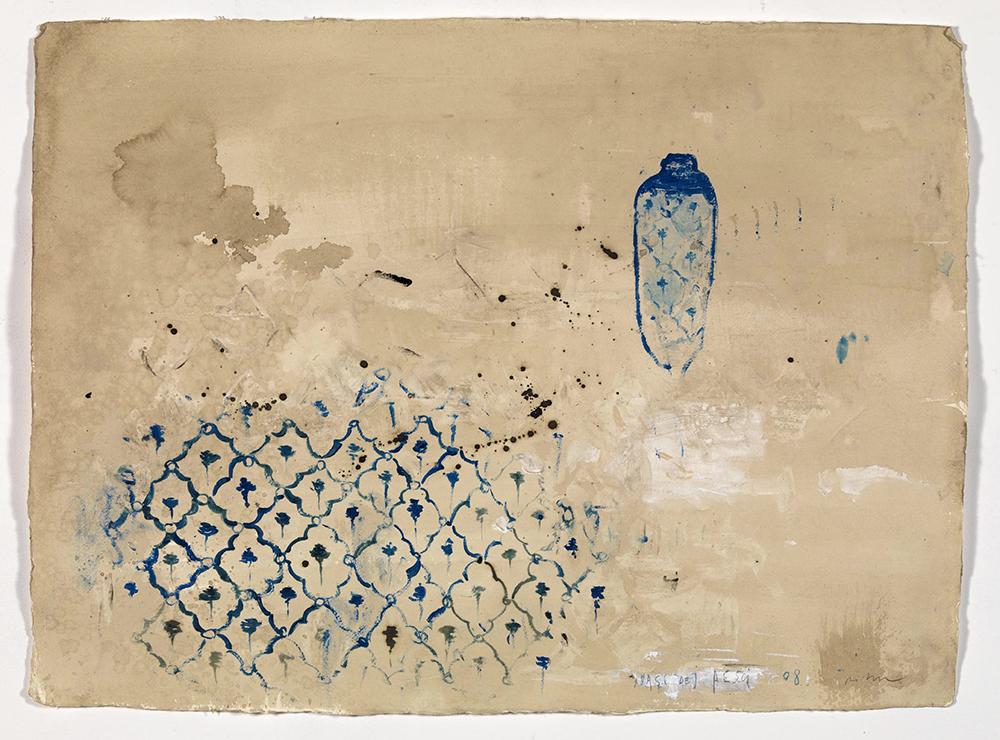 i vasi dei pesci, 2008, olio su carta, cm 55x75
