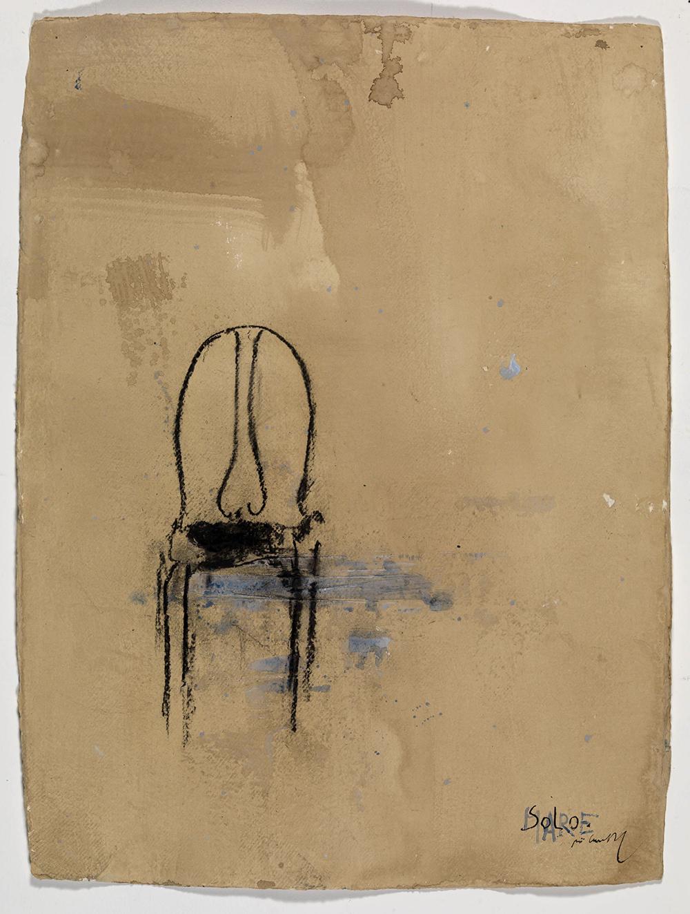 Solo mare, 2008, olio su carta, cm 75x55