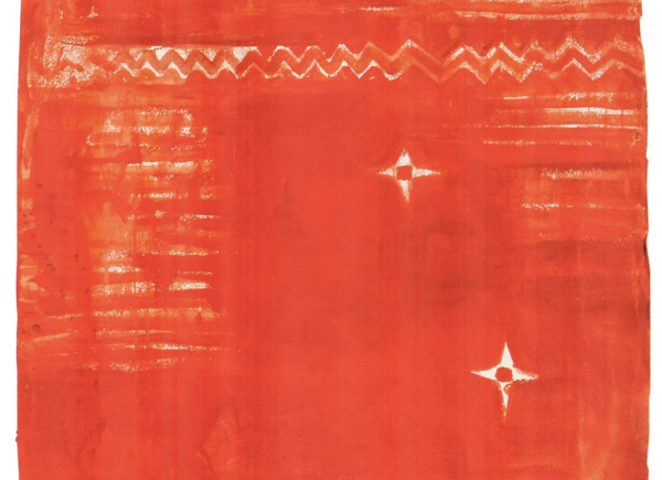 Rosso ceramica, 2011, tecnica mista su carta, cm 130x90