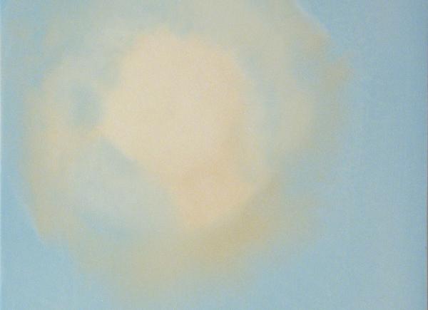 Sky Bulb, 2006, encausto su tavola, cm 43x34