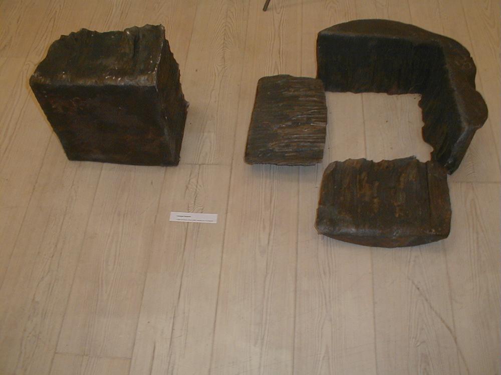 Giuseppe Spagnulo, Colpo di Fuoco, (4 elementi), 2003, acciaio, cm 37x120x70