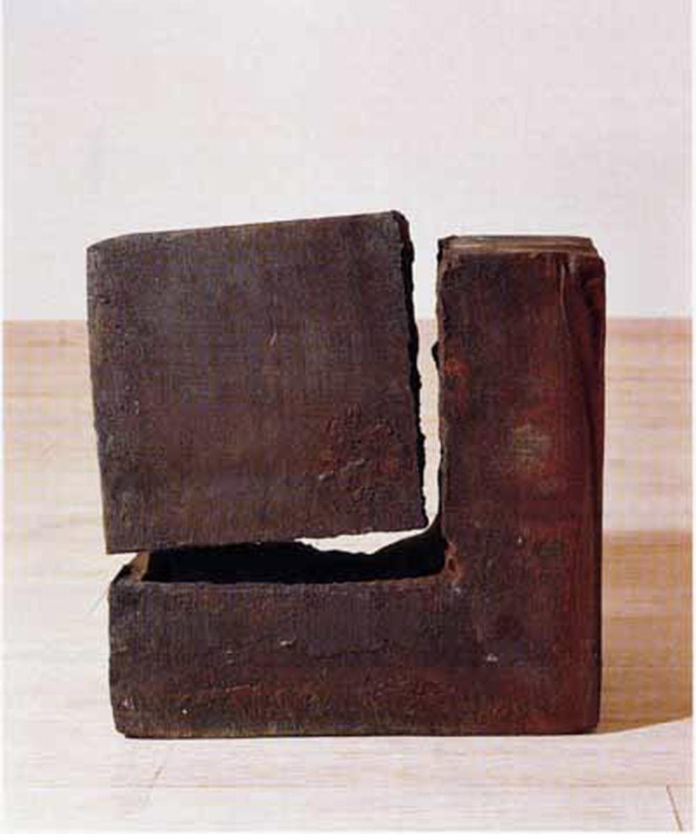 Giuseppe Spagnulo, Ferro spezzato, 1992, acciaio, cm 60x40x60