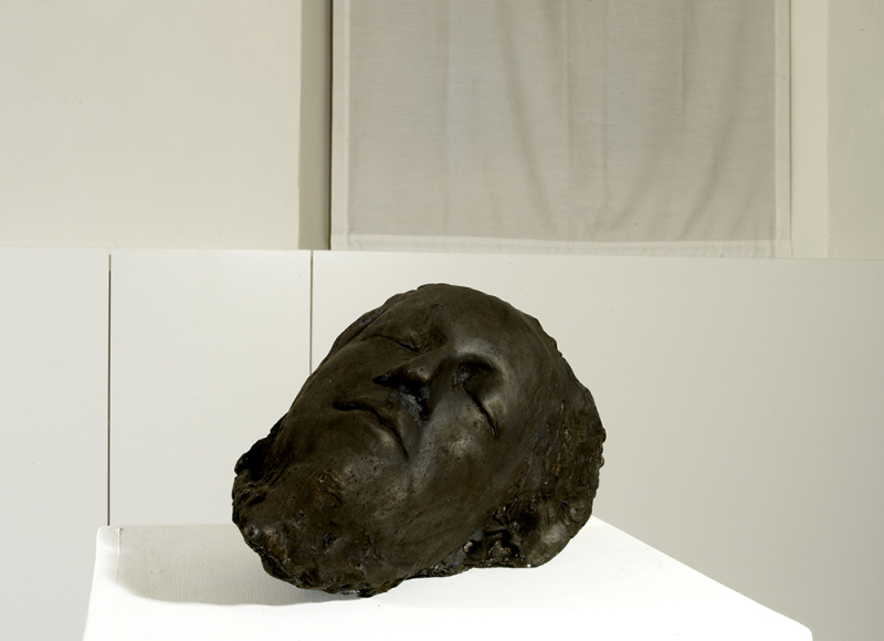 Testa, 2003, cera, cm 17,5x29x17