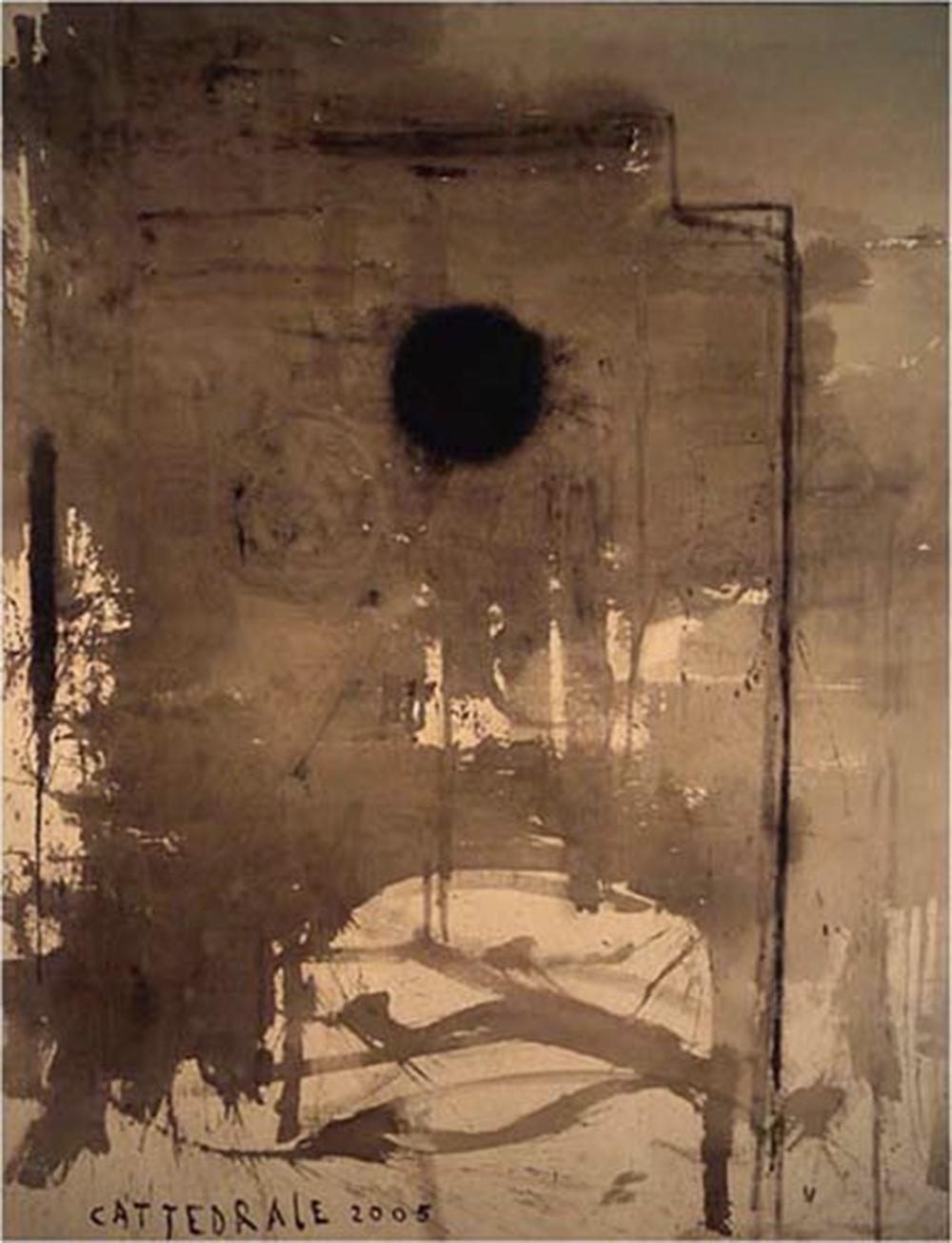 Cattedrale, 2004, olio su tela, cm 395x300 - Collez. Carisbo S. Giorgio in Poggiale, Bologna