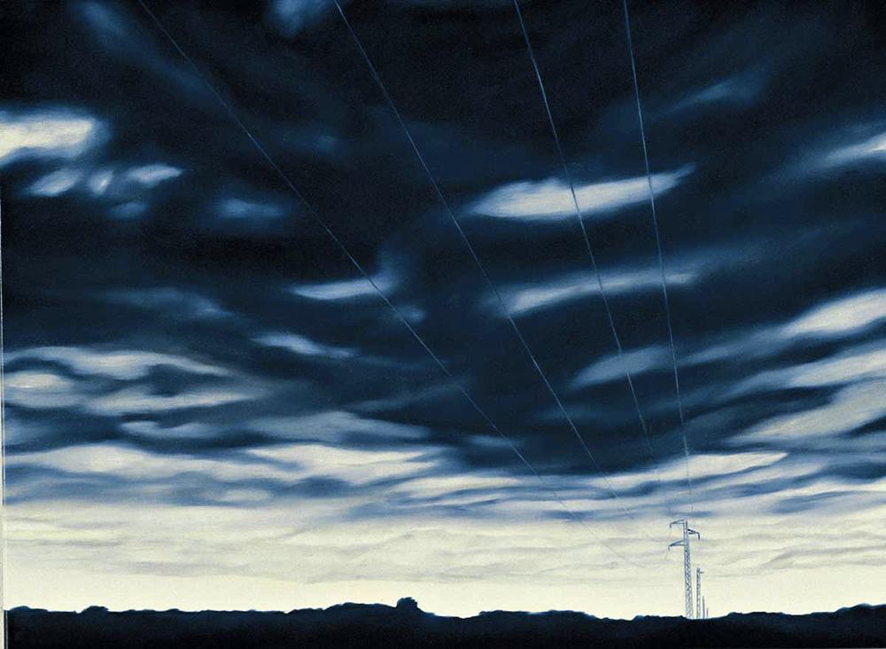 venerdì.26 settembre 2003.H 17:31:12, olio su lino, 2004, cm 100x140