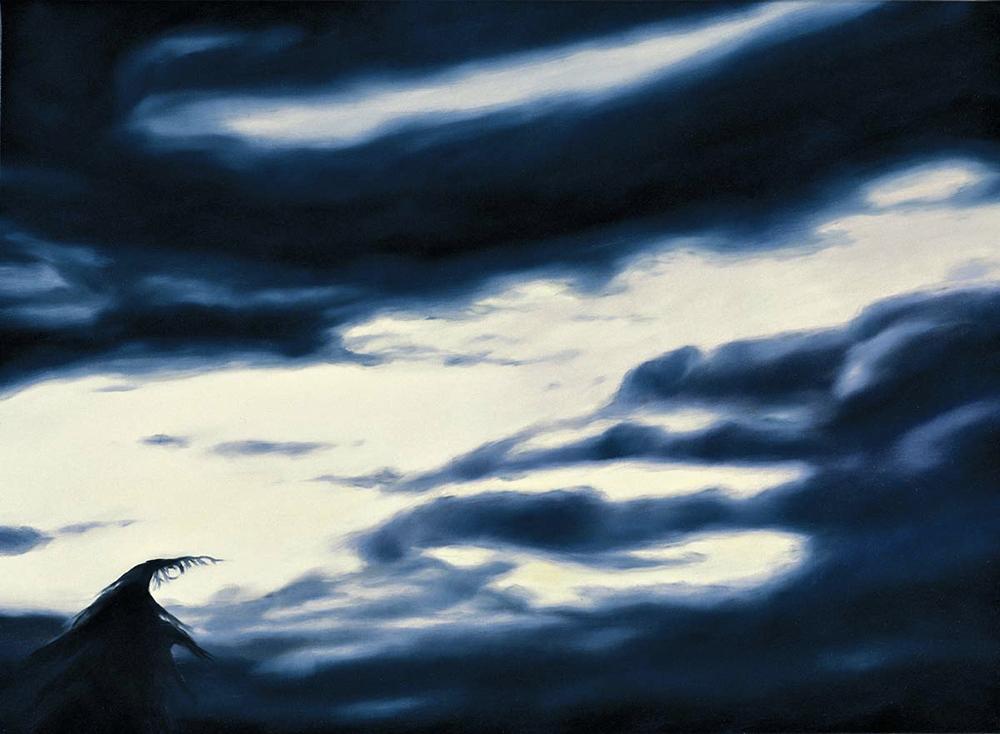 domenica.28 settembre 2003.H 19:00:04, olio su lino, 2004, cm 50x70