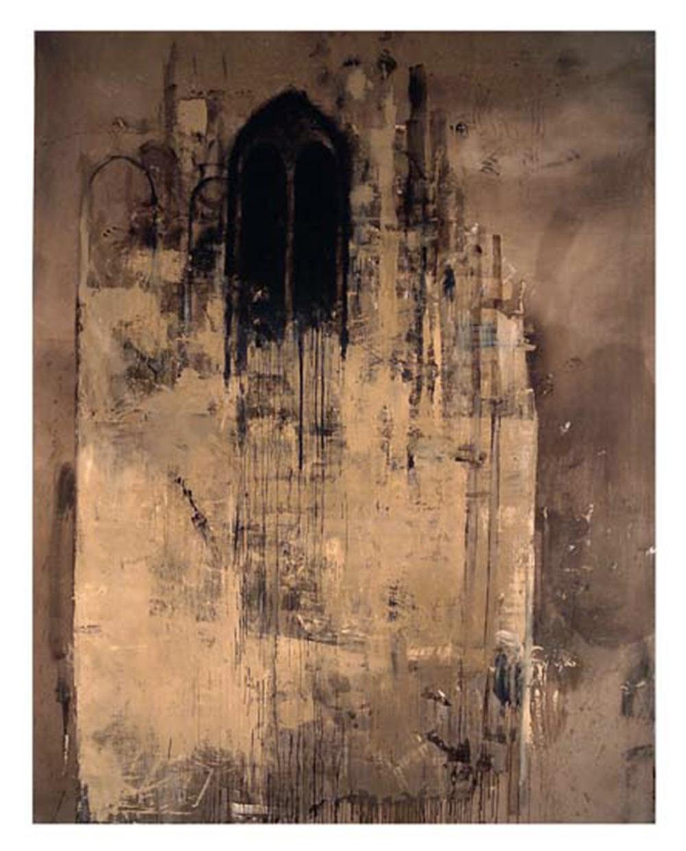 Cattedrale, 2004, olio su tela, cm 395x308 - Collez. Carisbo S. Giorgio in Poggiale, Bologna