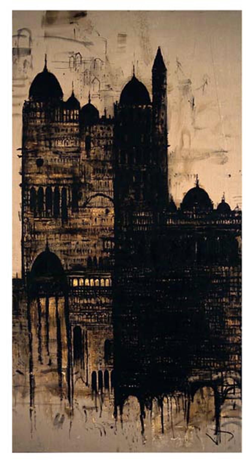 Cattedrale, 2004, olio su tela, cm 400x210 - Collez. Carisbo S. Giorgio in Poggiale, Bologna