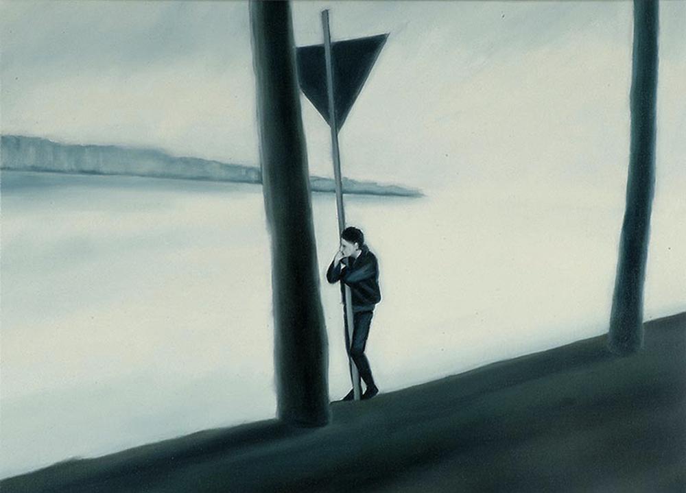 martedì.07 luglio 1987.H 14:21:03, olio su tela, 2004, cm 50x70