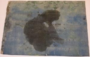 The lotus eaters, 2008, olio di papavero e pigmenti naturali su carta telata antica, cm 105x146