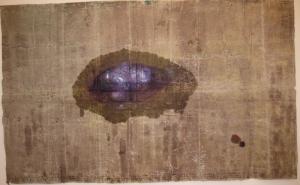 The lotus eaters, 2008, olio di papavero e pigmenti naturali su carta telata antica, cm 149x245