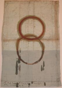 The lotus eaters, 2008, olio di papavero e pigmenti naturali su carta telata antica, cm 156x102