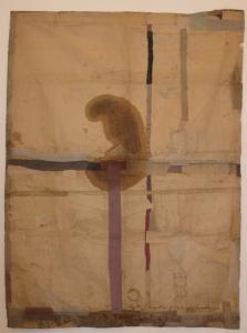 The lotus eaters, 2008, olio di papavero e pigmenti naturali su carta telata antica, cm 206x156