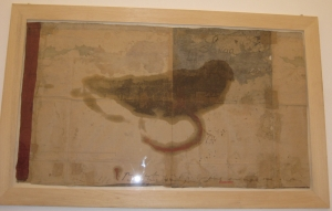 The lotus eaters, 2008, olio di papavero e pigmenti naturali su carta telata antica, cm 96x170
