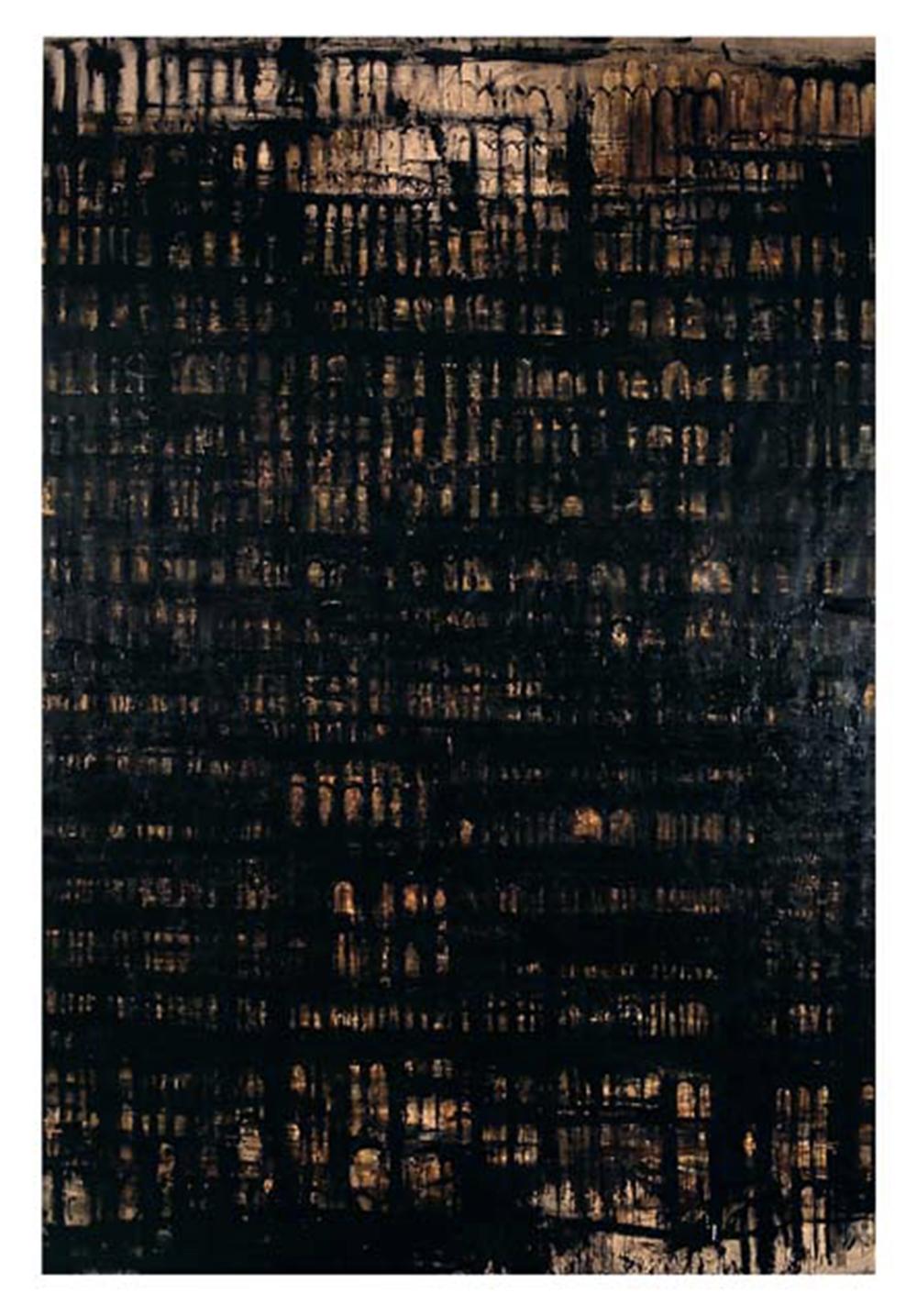 Cattedrale, 2004, olio su tela, cm 400x270 - Collez. Carisbo S. Giorgio in Poggiale, Bologna